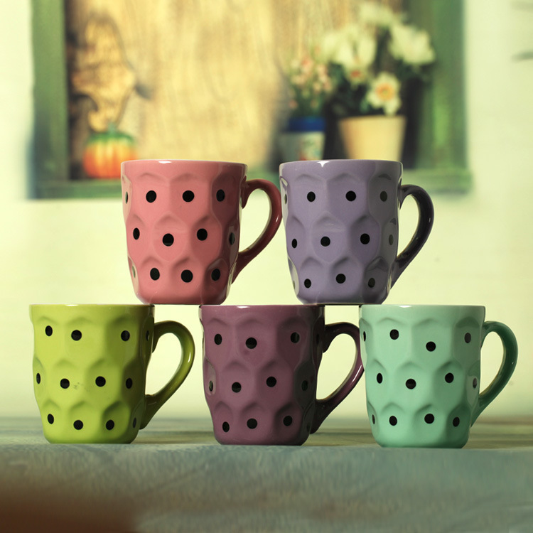 Creative sweet candy color ceramic coffee cup The trumpet mugs(China (Mainland))