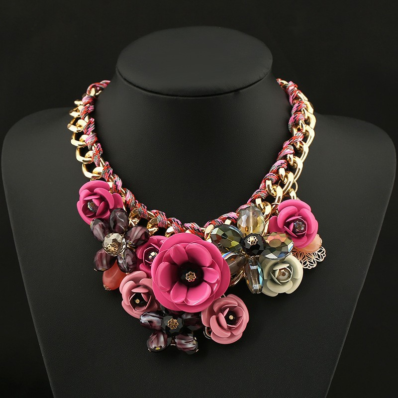 The European and American popular Necklaces earrings and Pendants women resin accessories metal exaggerated Necklaces wholesale(China (Mainland))