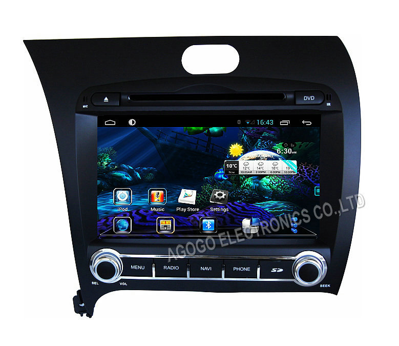 FOR KIA K3 FORTE CERATO 2013 pure Android 4 4 car dvd Navigation audio gps Capacitive