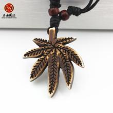 Cheap fashion jewelry  leaf imitation bone necklace pendant white and brown Maple leaf pendant sautoir colar feminino(China (Mainland))