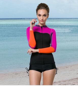 SBART Women 2mm neoprene wetsuit swimwear women rash guard diving suit one piece professional swimwear sports body suit