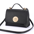 Fresh Simple Flap Small Bag Women Japan Style Trendy Twist Lock Small Hand Bag Fashion All
