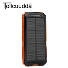 Buy Tollcuudda Waterproof Solar Power Bank 10000mah Dual USB Mobile Solar Charger Waterproof Powerbank Phone Fast for $18.55 in AliExpress store