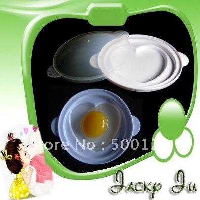 5pcs/Lot Free Shipping New Love Heart Shaped Microwave Oven Egg Steamer Poacher Boiler Cooker Tool