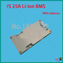 7S 25A Li-ion 25.9V bms pcm with balance small circuit board for 24v electric bike cycle(China (Mainland))