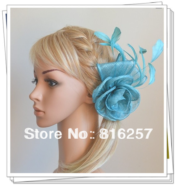 Free shipping 9color high quality sinamay fasinctor hats,nice bridal hair accessories/party hats/cocktail hats,FS52(China (Mainland))