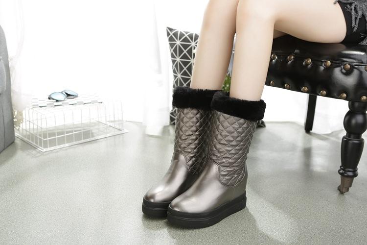 Fashion Women Boots Autumn Winter Female Martin Boots Fur Flat Boots Sweet Short Ankle Boots Botas Femininas