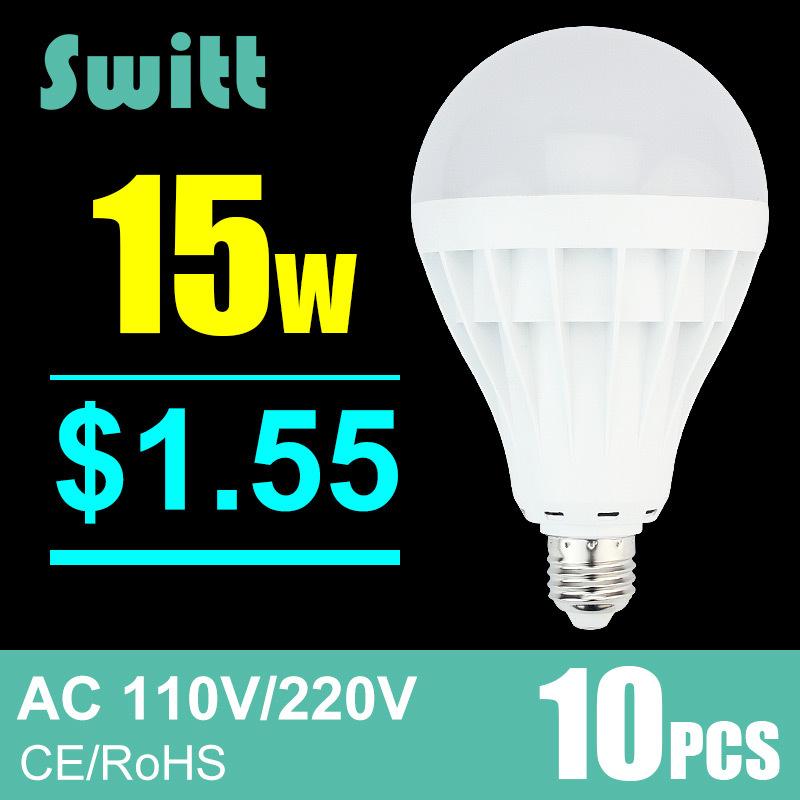 Гаджет  10PCS led bulb E27 B22 110V 220v cold warm white 5730 SMD 3W 5W 7W 9W 12W 15W 20W 30W 127V 130V Led Bulb 360 Degree light None Свет и освещение