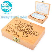 Tooth Box organizer for baby save Milk teeth Wood storage box great gifts 3-6YEARS creative for kids for girls(China (Mainland))