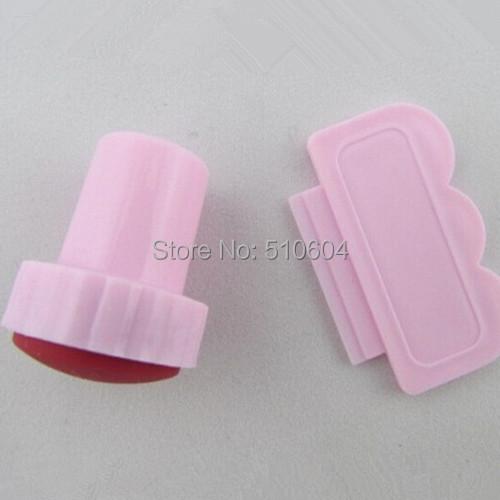 2pcs/set Pink Image Plate Scraping Knife Nail Art Stamping Stamp Salon Artist Tools #NAO08(China (Mainland))
