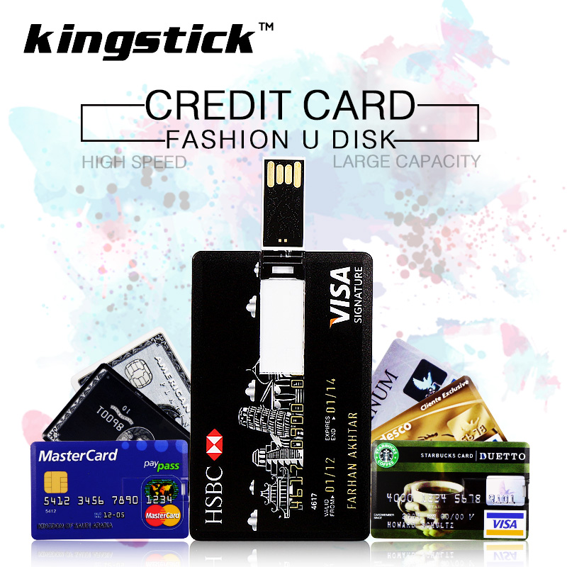 U DISK Credit card model usb flash drive 32gb 64gb USB 2.0 stick usb pendrive 8gb 16gb pen drive(China (Mainland))