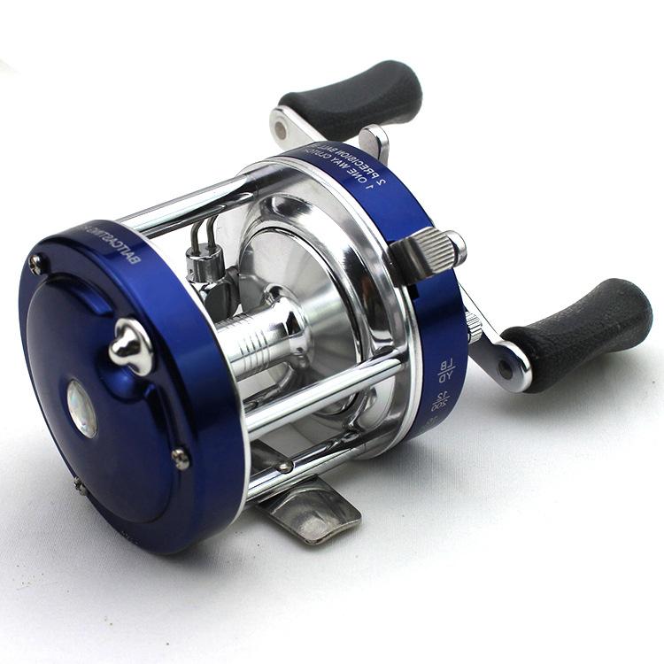 Carpfishing Blue Drum Saltwater Reel Right/Left Hand Molinete Fishing Baitcasting Reel 3BB 4.2:1 Spool Peche China Online Store(China (Mainland))