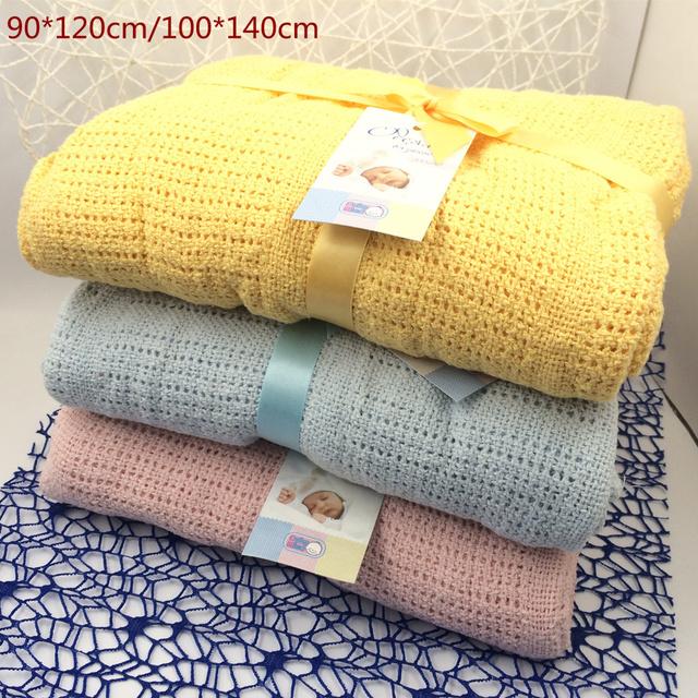 Новый 100% хлопок детское одеяло трикотажные дышащий реквизит для детей кроватки ...