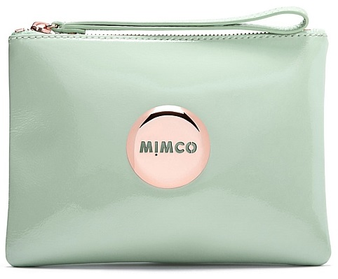 Mimco Medium POUCH  LOVELY pistachio leather rose gold buttom  Women Wallet high quality leather wallet FREE SHIPPING<br><br>Aliexpress