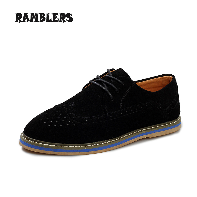 Vintage Men Flats Shoes Casual Nubuck Breathable Sneakers Lace Dress Creepers Daily Size 38-44