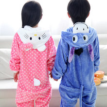 Children pajamas girls Hello Kitty baby boys clothes blue donkey Spring Children nightgown pyjamas kids animal pijamas infantil