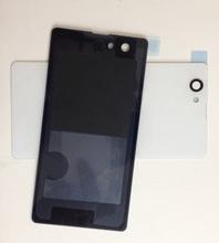 Sacos & Casos de Telefone Caixa de Bateria de Vidro Traseiro de Volta Peças para Sony Branco Tampa DA Caso Habitação Case Capa Xperia Z1 Compact