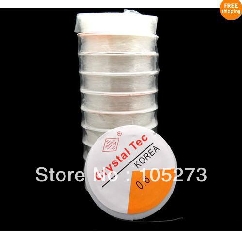 New Arriver 10X10M Sretch Elastic Beading Cord/String.Thread 0.6mm White Color 10pcs/Lot Meterial Nylon New Free Shipping<br>