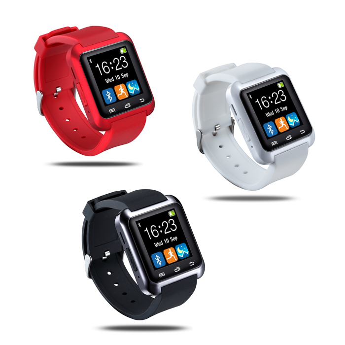 Bluetooth Smart Watch U80 wrist watch sport for iPhone 4/4S/5/5S Samsung S4/Note 2/Note 3 HTC Android Phone(China (Mainland))