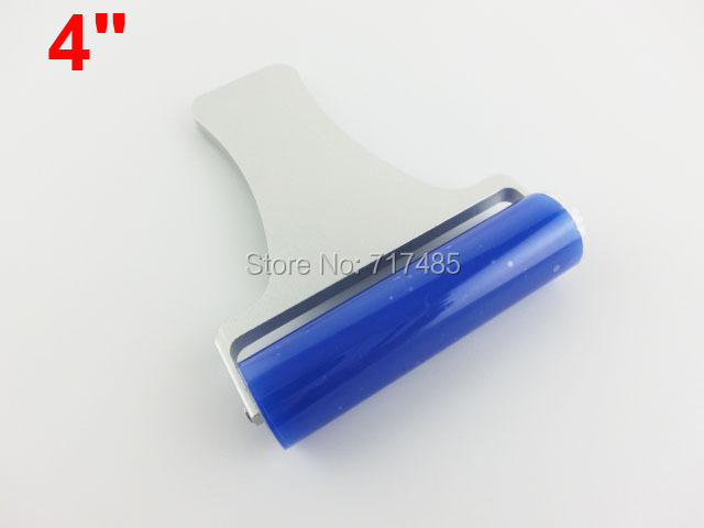 Aluminum Handle Blue Tacky Sticky Silicone 4inch Dust Removing Roller(China (Mainland))