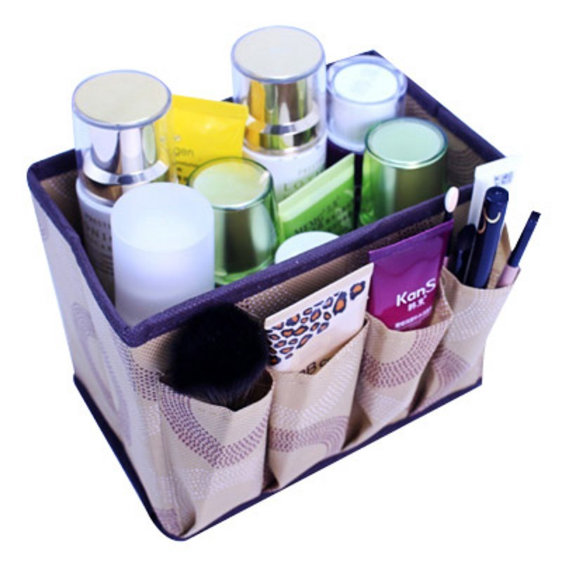 Large capacity Foldable Multifunction Make Up Cosmetics Storage Box Container Bag dresser Desktop Cosmetic Makeup Organizer(China (Mainland))