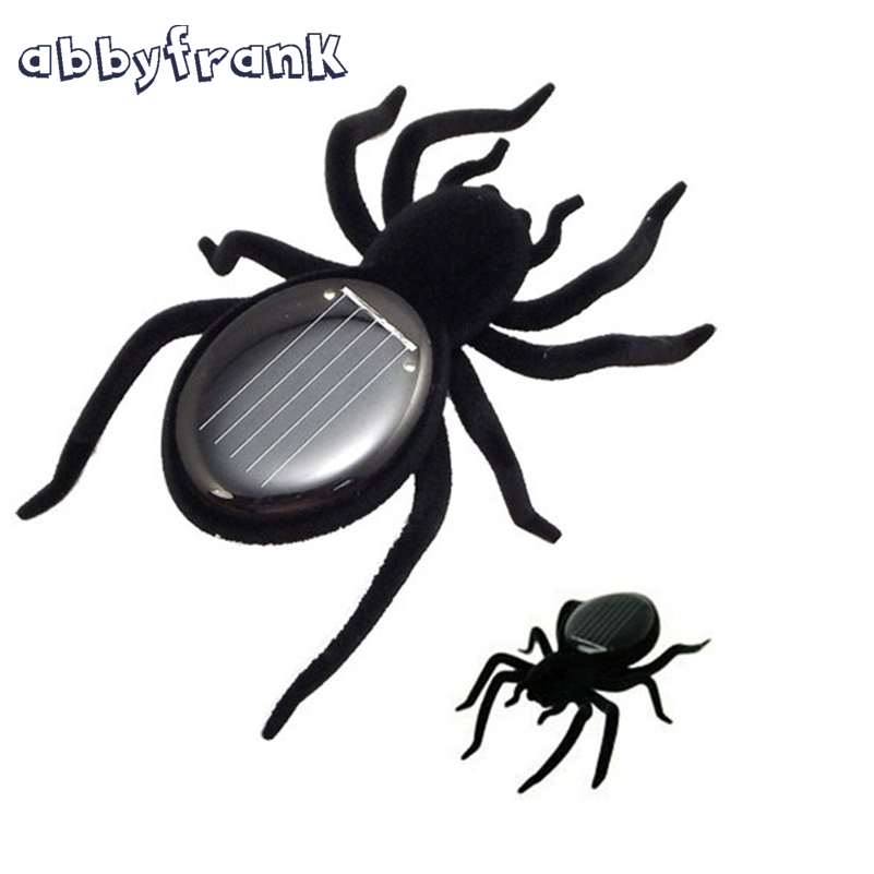 Solar Toy Green Solar Powered Toy Spider Tarantula Gadget Juegos Solares Juguetes Solares Learning Educational Gift For Children(China (Mainland))