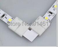 "5pcs/lot  ""L"" Led connector connection  5050 5630 single colour led strip with lights corner connector"