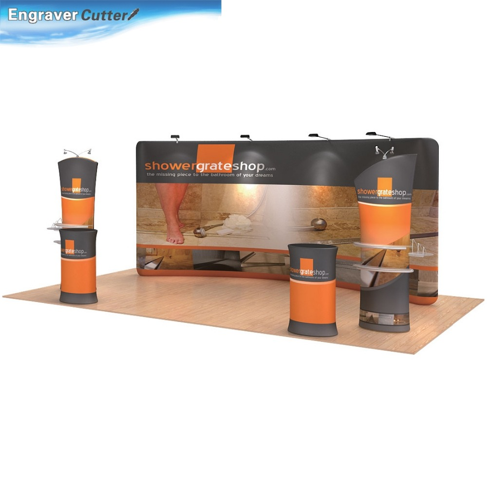 17ft x 7.5ft Curved New Pop Up Fabric Exhibition Display System with Graphic(China (Mainland))