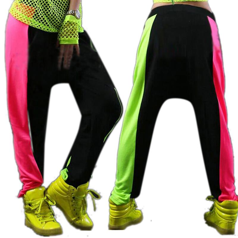 Women <font><b>Men</b></font> Unisex Neon <font><b>Harem</b></font> Baggy Hip Hop <font><b>Dance</b></font> <font><b>Sport</b></font> Sweat <font><b>Pants</b></font> <font><b>Trousers</b></font> Slacks <font><b>2</b></font> Colors