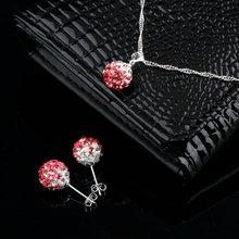 High Quality Fashion Shamballa Sets Shamballa Pendants & Earrings Micro Pave CZ Disco Ball Beads,Shamballa Necklaces New Design(China (Mainland))