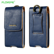 Buy FLOVEME Genuine Leather Waist Pouch Wallet Case iPhone 7 6 6S Plus 7 5S SE 4S Samsung Galaxy S7 Edge S6 Edge Plus Bag for $9.99 in AliExpress store
