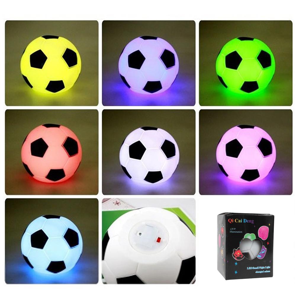 Colorful Football LED Night Light Bedroom Lamp Room Nightlight Party Blub Indoor Soccer Lights(China (Mainland))
