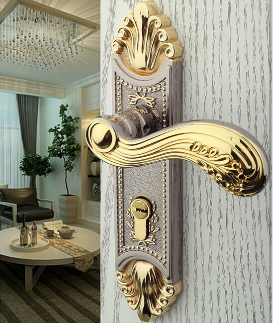 Free shipping high quality Door locks, brass lock Interior door, zinc alloy handle Building Hardware(China (Mainland))