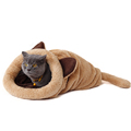 Kennel Soft Fabric Cat Bed
