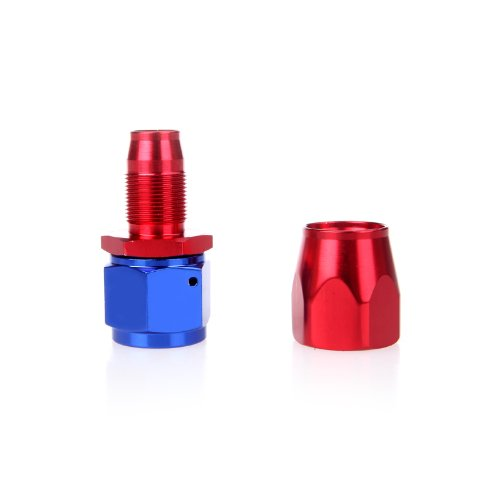 SZS Hot AN10 Straight Swivel Oil Fuel Hose End Fitting Adapter Aluminum Red&amp;Blue<br><br>Aliexpress