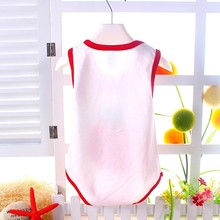 2015 hot sell high quality baby bodysuit newborn clothing sleeveless summer style cartoon animal kids outfits