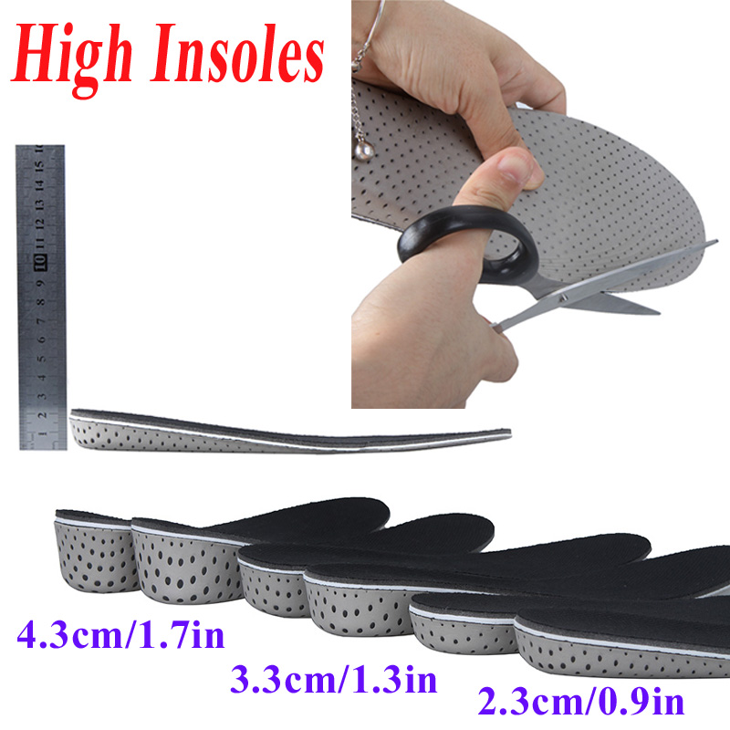 High quality Men Women Increase Height High Full Insoles Memory Foam Shoe Inserts Cushion Pads Wholesale(China (Mainland))
