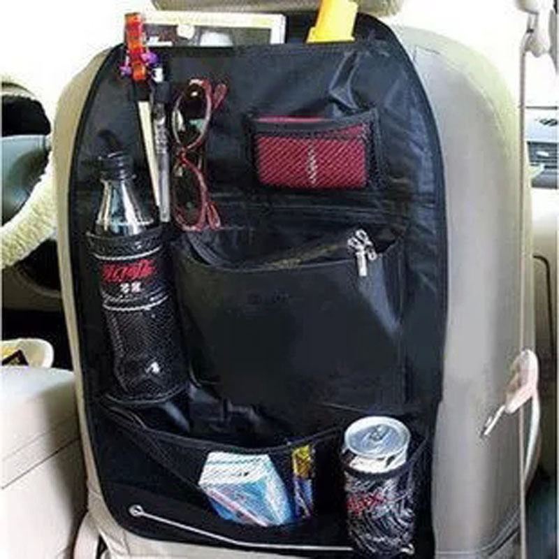 New Promotion Car Accessories Seat Covers Bag Storage Multi Pocket Organizer Car Seat Bag Of Back Seat Of Chair Whosale Shipping(China (Mainland))