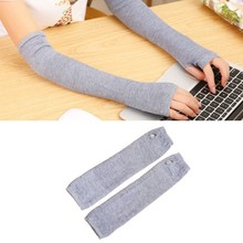 4 color optional Stretchy Long Fingerless Females Gloves Cashmere Blend Arm Warmers Sleeves Fashion Mittens(China (Mainland))