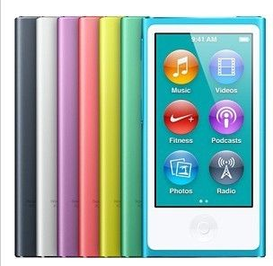 Watch For Apple iPod nano7 7th Generation 2.4'' IPS touch screen new 128GB MUSIC FM VIDEO MP3/5 PLAYER A variety of language(China (Mainland))