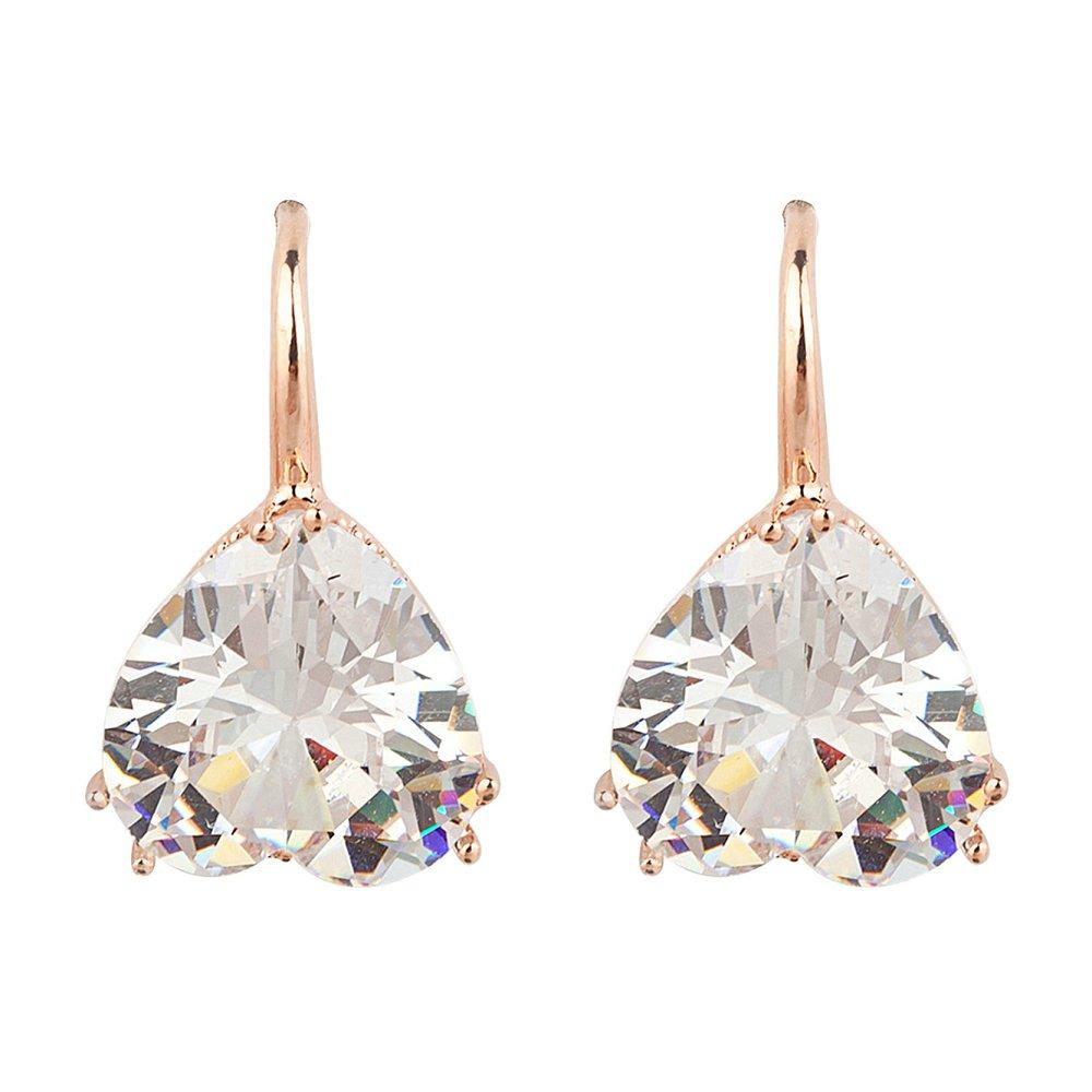2016 Fashion Vintage Crystal Heart Rhinestone Dangle Earrings Summer Style Jewelry Sweet Earrings for Women Girls(China (Mainland))