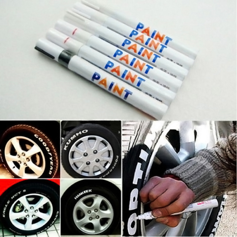 Car Permanent Paint Pen Tire Metal Outdoor Marking Ink Marker Creative Free shipping L0192556(China (Mainland))