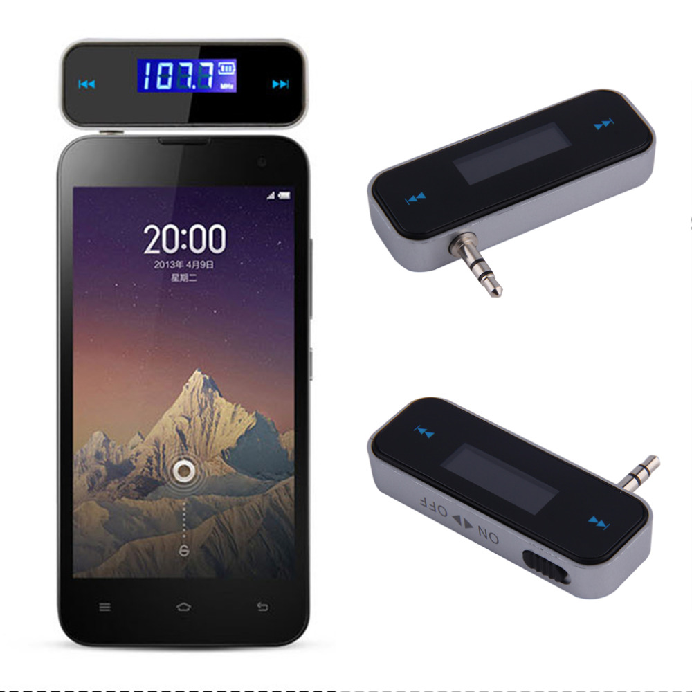 Universal 3.5mm Wireless Mini Car FM Transmitter Kit Music FM With USB Cable for iPod/iPad/iPhone 4 4S 5 5S 6 6S for Samsung(China (Mainland))