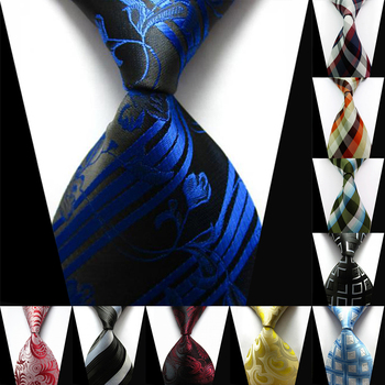Silk Men Ties Men Stripe Silk Polyester Classic Tie Formal Business Wedding Party Fashion Luxury Necktie Holiday Gift