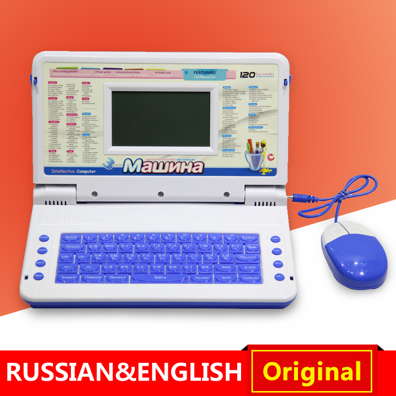 Children Learning Machines Toy Laptop Computer Russian English Language Kids Learning Machine Educational Tablets laptopToys!!!(China (Mainland))