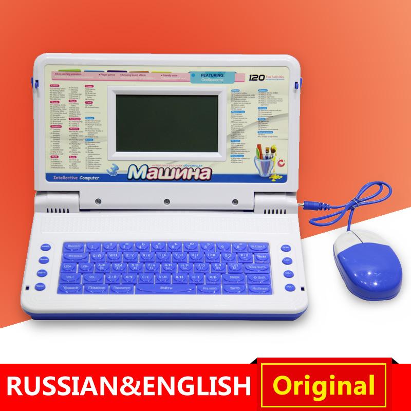 Russian Toys Laptop Computer Russian English Language Children Kids Learning Machine Computer Educational Toys Kids Gift!(China (Mainland))