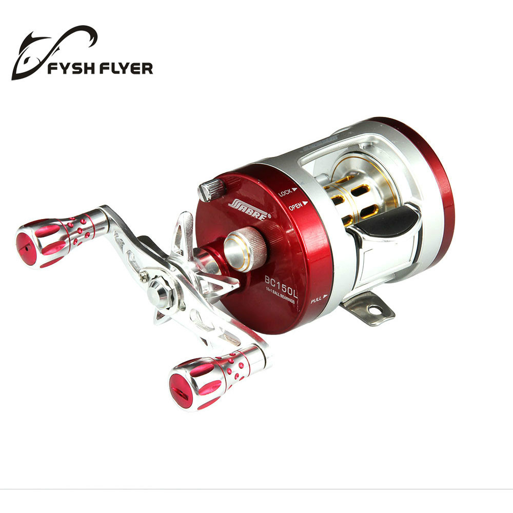 SEAHAWK-BC Light Al Alloy Body Cover ,One-Way Clutch Ball Bearing Fishing Reel,10+1BB,Red And Silver(China (Mainland))