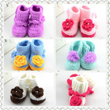 Crochet baby shoes baby booties handmade booties infant crochet baby knitting shoes S073B(China (Mainland))