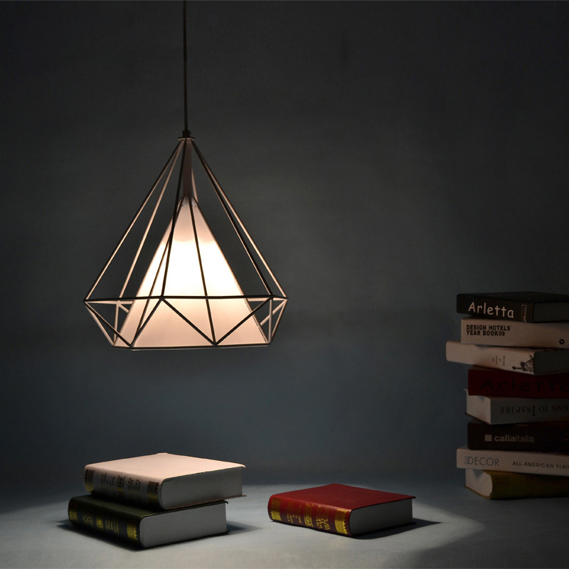 2015 Real Lustres De Sala Bar Clothing Store Coffee E Office Personality Iron Cage Chandelier Warm Ikea American Lamps Lighting(China (Mainland))