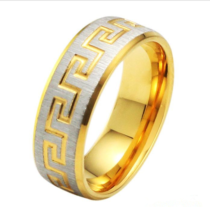 255 gold ring engraving, jewelry exquisite design ring, mens rings lots - Lazy Sweetheart store